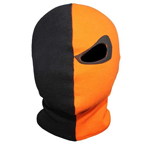 Innturt Deathstroke Cosplay Fabric Mask Balaclava Hood Face Single Eye, Orange/Black, One -