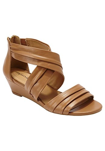 Bargain Catalog Outlet Comfortview Plus Size Nell Sandal Tan WeclB