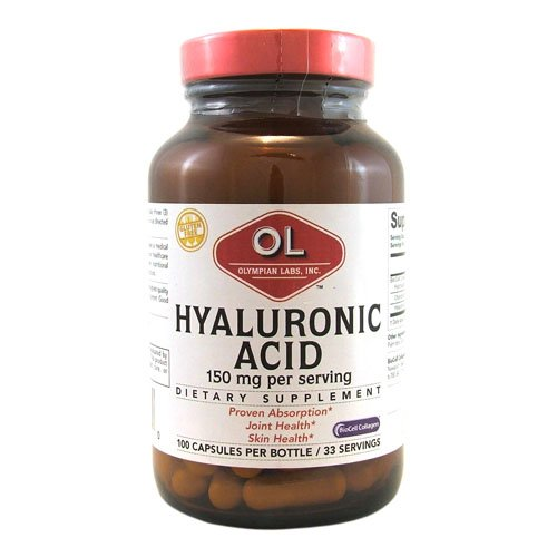 New - Olympian Labs Hyaluronic Acid with BioCell Collagen Type II - 100 Capsules