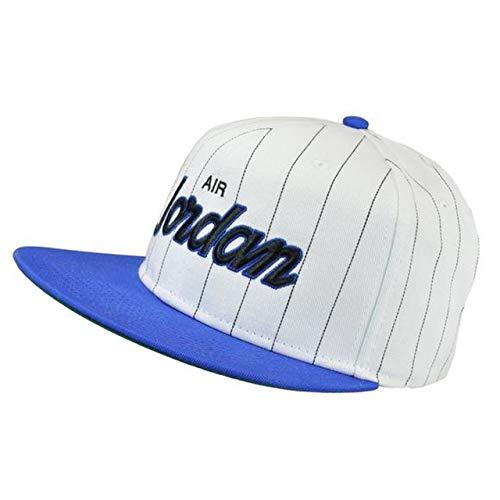 Nike Jordan Mens Air Jordan Retro 10 Pro Script Star Snapback Cap (One Size, White (100)/Royal Blue)