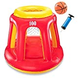 """Ivation Inflatable Floating Basketball Hoop & Blow Up Ball for Swimming Pool & Water Sports – Includes Hand Pump – Exciting, Fun Summertime Water Game for Players of All Ages – 36"""" Tall"""