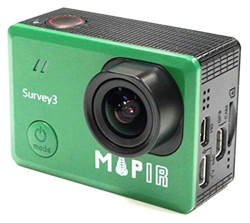 MAPIR Survey3W NDVI Mapping Camera RGN Red+Green+Near Infrared Filter 3.37mm f/2.8 No Distortion Wide Angle GPS Touch Screen 2K 12MP HDMI WiFi PWM Trigger Drone Mount