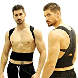 Posture Corrector Brace Support Straightening Back for Men and Women Undershirt to Improve Slouches and Hunchback with 12 Magnetic Stones Therapy on Relieving Pain of Neck, Lumbar, Shoulder