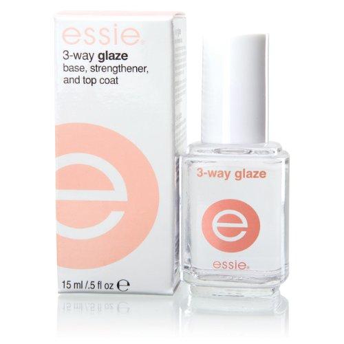 Essie - 3-Way Glaze - Base Durcisseur et Fixateur - 15ml