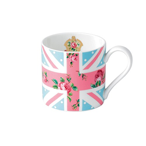 Royal Albert Cheeky Pink Fine Bone China - Union Jack Mug (Pink Union Jack)