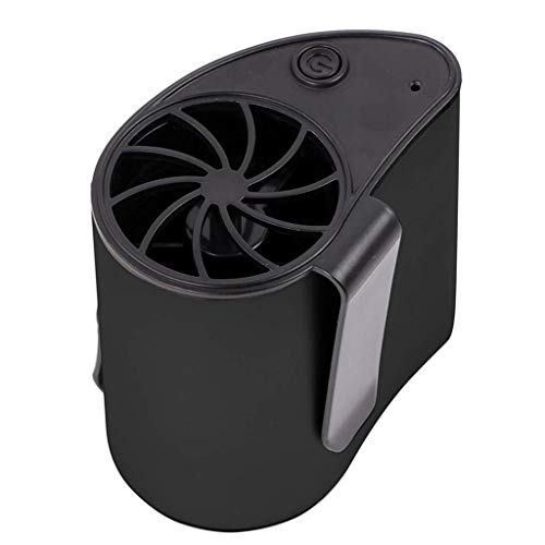 (Mini Portable Waist Fan USB Rechargeable Cool Air Hand Held Travel Blower Cooler (Black))