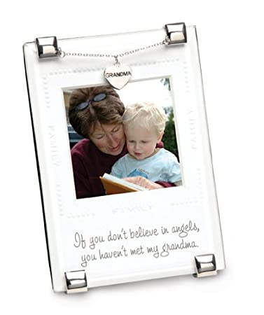 Amazon.com : Mud Pie Baby Quotables Clip Frame with Charm, Grandma ...