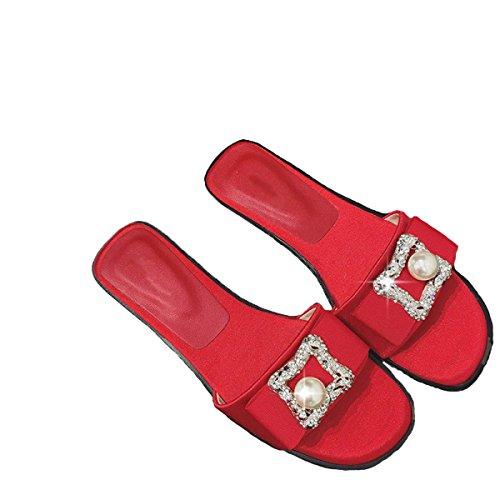 Tianwei Sommer Mode Freizeitschuhe Frauen Sandalen Und Pantoffeln Sie Red