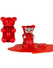 Gummy Bear Candle Scented Skeleton Candles Red