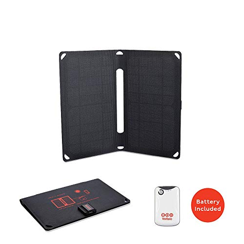 Voltaic Systems Arc 10 Watt Rapid Solar Panel Charger | Includes a Battery Pack (Power Bank) and 2 Year Warranty | Powers Phones Compatible with iPhone, Tablets, USB Devices and More ()