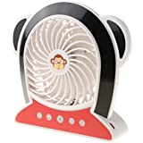 MonkeyJack Handheld Mini Portable Notebook Laptop Computer PC USB Cooler Desk Fan - Black