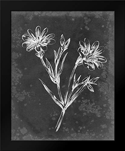 Slate Floral IV 15x18 Framed Art Print by Harper, Ethan