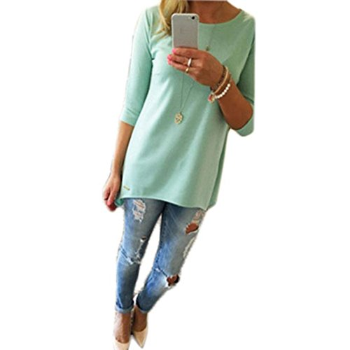 Blouses,Toraway Women Pullover T Shirt Three Quarter Sleeve Blouse Shirt Tops