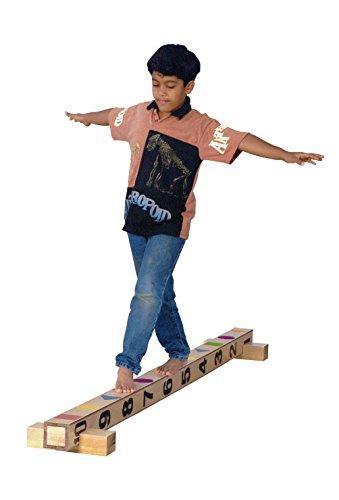 Sportime EduBeam Birchwood Balance Beam - 4 inches Square x 90 inches Long - 1352491 ()