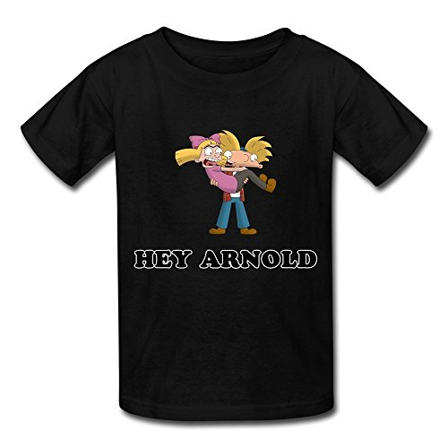Kazzar Kid's Hey Arnold Project Heart Round Collar T Shirt M