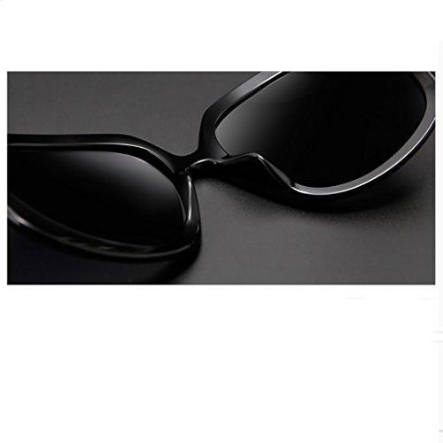 color Bright Wayfarer Para De Protección Sungeye Rojo Gafas Sol Black Mujer Polarizadas Uv Retro qwY5x75I