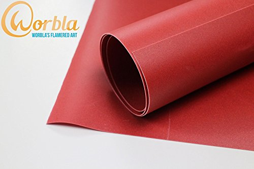 Worbla's FLAME RED Art Thermoplastic - Medium (29x19 Inch Sheet) Thermoplastic Material for Cosplay and (Worbla Costumes)