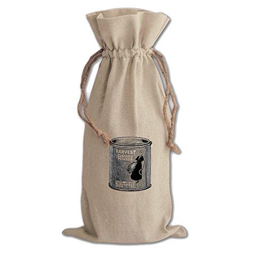 Harvest Custard Powder Vintage Look Canvas Wine Cotton Drawstring Bag