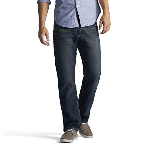 Lee Men's Regular Fit Straight Leg Jean, Quartz Stone, 42W x 34L -