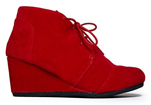Patricia Red Rex Womens Classified City Wedges Bvw8OAq