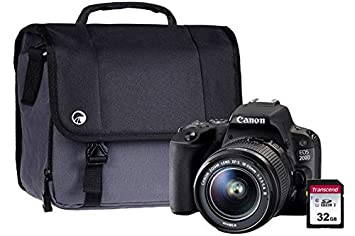 Canon EOS 200D Black SLR Camera DC Kit Inc 18-55mm Non IS Lentes ...