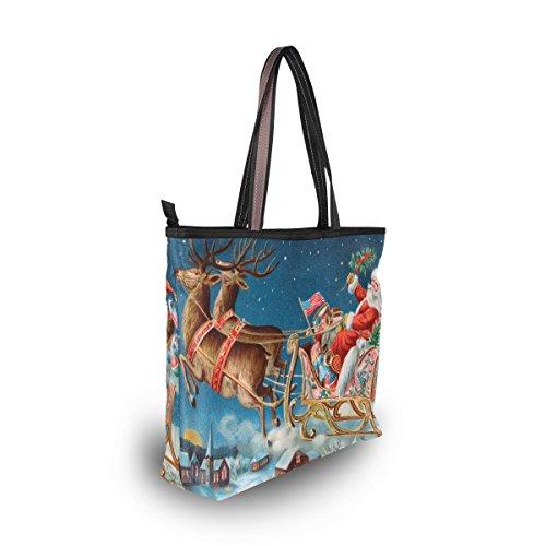 Reindeer Christmas Tote Large MyDaily Bag Handbag Santa Shoulder And Women IvgqwST0