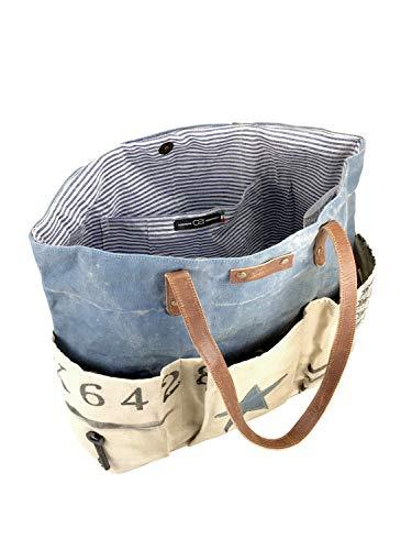 de alessandro azul mujer Azul hombro para al única Lona collezione Bolso Talla 6TFqwgF