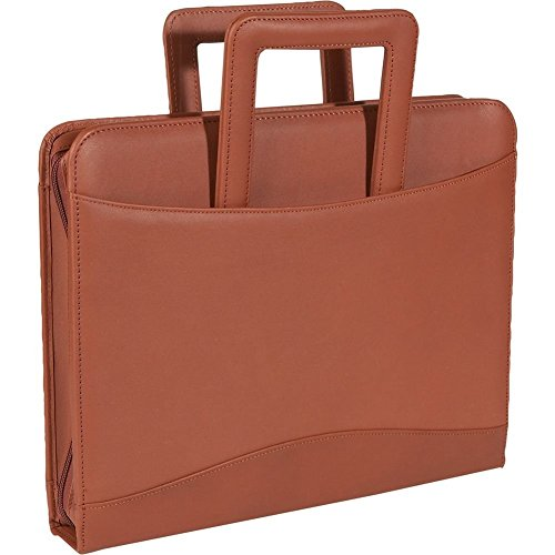 Royce Leather Zip Around Binder Portfolio - Top Grain Nappa Cowhide - Tan