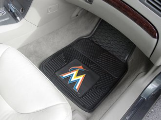 MLB - Miami Marlins Heavy Duty 2-Piece Vinyl Car Mats
