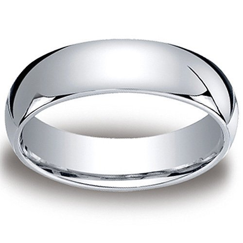 7mm Plain Band Ring (7MM Cobalt COMFORT FIT Plain High Polish Polished Finish Wedding Ring Band for Men (Sizes 8 to 12) - Size 10)