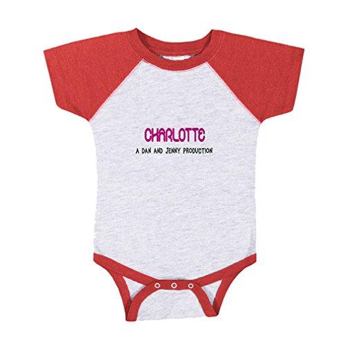 te. A Dan and Jenny Production Baby Baseball Raglan Bodysuit Gray/Red 6 Months ()