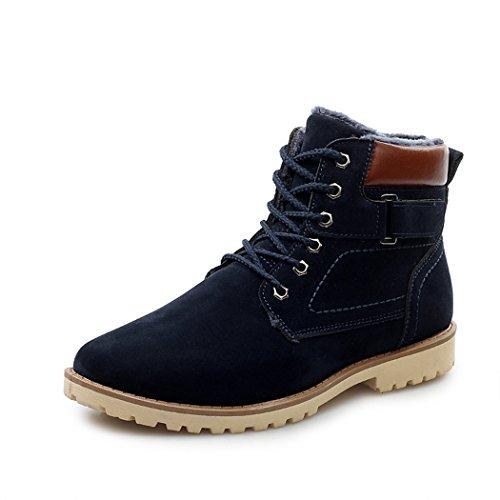 Sun Florence Men Casual Winter Velvet Warm Padded Snow Short Ankle Boots Blue OsKZ2