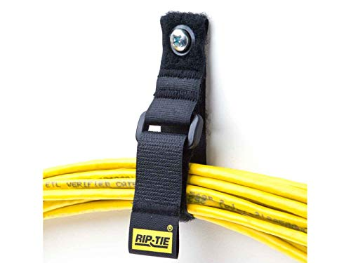 Rip Tie Cinch Strap EG Cable Straps, BLACK (10, 10'' Long X 1'' Wide) by DURALINE (Image #3)