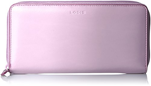 Lodis Women's Audrey Ada Zip Around Wallet, Iced Violet/Beet, One Size ()