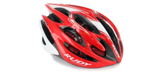 Black Shiny Helmet - Rudy Project Sterling Men's & Women's Cycling Helmet Red/White/Black Shiny - Large