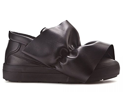 Pelle Nero Sneakers MSGM 2141MDS05X001 Slip Donna On C4wCX6qa