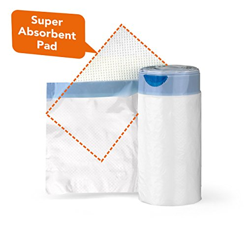 Carebag Medical Grade Bedpan Liner with Super Absorbent Pad, 20 Liners by Cleanis (Image #2)