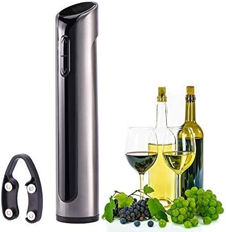 Opens up to 180 bottles with one charge Pearl White Famili FM700WR Electric Wine Opener Rechargeable Corkscrew Wine Bottle Opener with Foil Cutter
