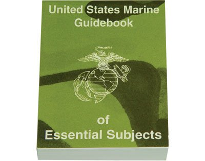 amazon com us marine corp guidebook of essential subjects manual rh amazon com marine corps manual 1100.4 marine corps manual leadership qualities
