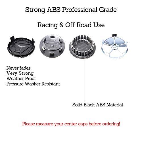 Center Cap 4 Pieces Set Wheel Rim Mags Tire Hub Hubcap Full Piece ABS Cover Universal Tuning Mod Logo Badge Emblem DMD 65MM Black BBS