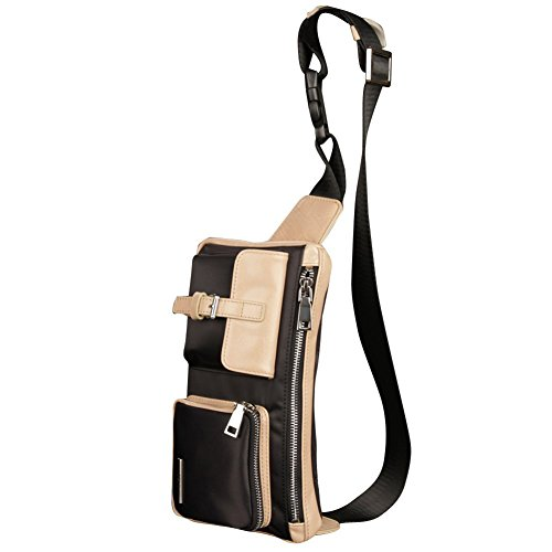 Oneworld white Bag Black Handbag Shoulder Canvas Fashion Hiking Casual Men's Travel Cross High Body Outdoors Quality Style Straps Waist rSwqFrU7
