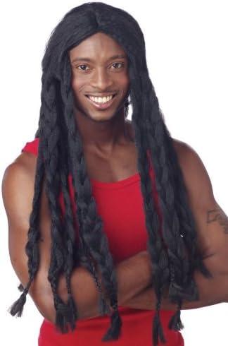 Dreadlocks Wig Long Jamaican Rasta Mens Adult Black Fancy Dress Dreads  Reggae