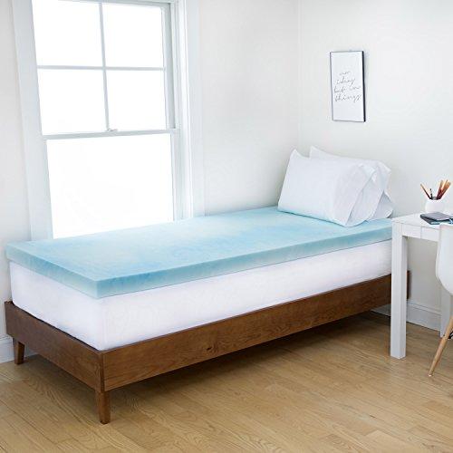 Authentic Comfort Dorm 4 Inch Gel Swirl Memory Foam