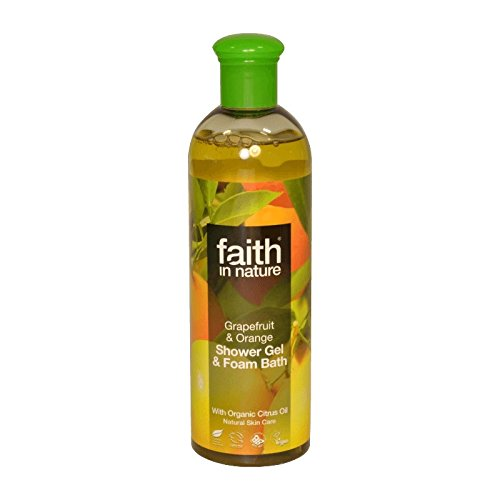 Faith in Nature Grapefruit & Orange Shower Gel & Bath Foam 400ml (Pack of 6) - 自然グレープフルーツ&オレンジシャワージェル&バス泡400ミリリットルの信仰 (x6) [並行輸入品] B01N782CGX