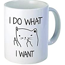 Little kitten I do what I want, cat middle finger - Funny coffee mug by Donbicentenario - 11OZ Ceramic - Best gift or souvenir. SHIPS FROM USA