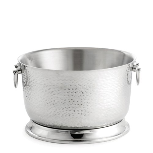 Tablecraft Remington Beverage Tub with Round Base Stainless Steel, 16-Inch ()