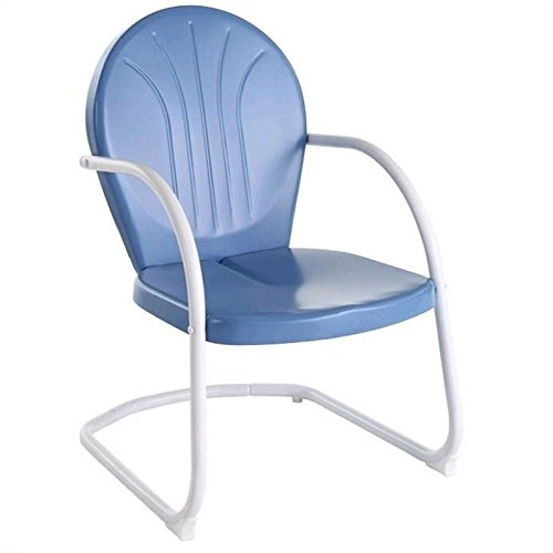 - Crosley Furniture Griffith Metal Outdoor Chair - Sky Blue