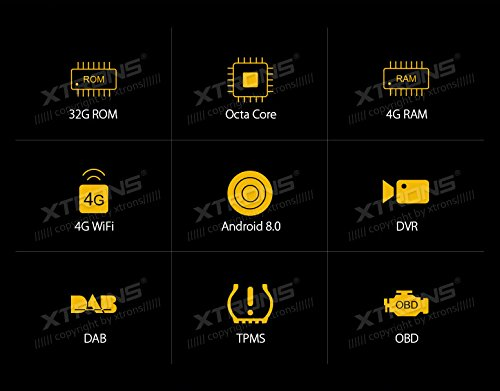 XTRONS 6.95 Inch Android 8.0 Octa Core 4G RAM 32G ROM HD Digital Multi-touch Screen Car Stereo DVD GPS Radio OBD2 Wifi DVR TPMS Double 2 Din by XTRONS (Image #1)