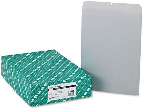 Executive Gray Quality Park 38610 Clasp Envelope 28lb 100//Box 12 x 15 1//2