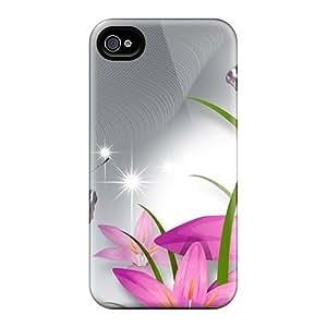 diy phone caseBrand New 4/4s Defender Case For Iphone (butterflies Adorve Pink Lilies)diy phone case